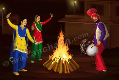 Lohri Celebrations with Bonfire