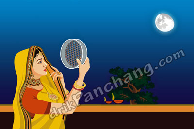 Moon sighting on Karwa Chauth