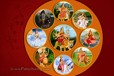 Navratri nine goddesses