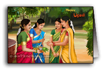 Ladies celebrating Ugadi