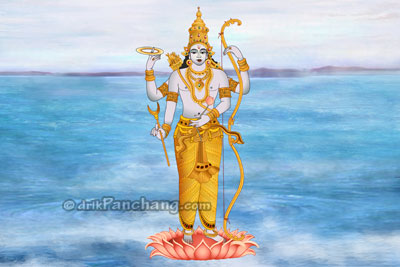 Lord Rama Chaturbhuji Form