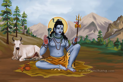Lord Shiva on Kailash Parvat