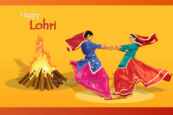 Ladies dancing on Lohri