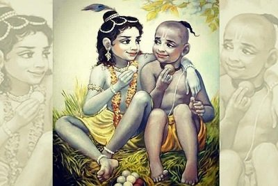 Krishna with friend Sudama