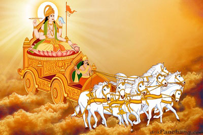 Lord Surya on Chariot