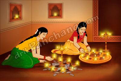 Girls Lightening Karthigai Deepam