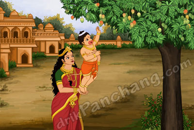 Bal Hanuman with Mother Anjana