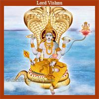 Lord Vishnu in Ksheer Sagar
