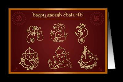 Abstract Form Lord Ganesha Om Ganeshay Namah