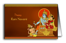 Hanuman Massaging Rama's Feet