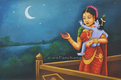 Mata Yashoda and Krishna