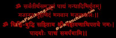 Padya Samarpan Mantra in Hindi