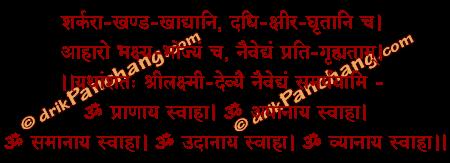 Naivedhya Samarpan Mantra in Hindi