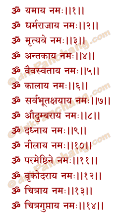 Yamaraj Name Mantra