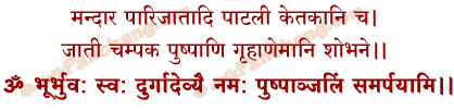 Pushpanjali Mantra in Hindi