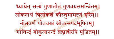 Dhyanam Mantra in Hindi