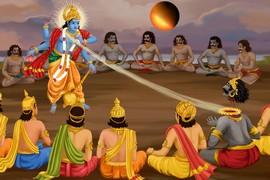 Lord Vishnu Killing Asura Rahu