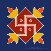 5x5 Dot Rangoli