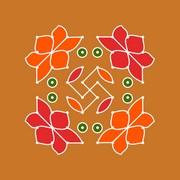8x8 Dot Rangoli
