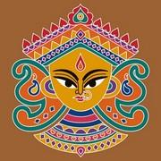 Durga Rangoli 1