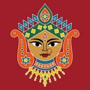 Durga Rangoli 2