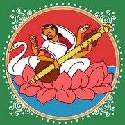 Saraswati Rangoli 3