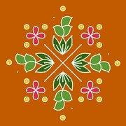 New Year Rangoli 6