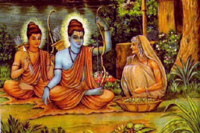 Shri Ram and Lakshaman with Mata Shabari